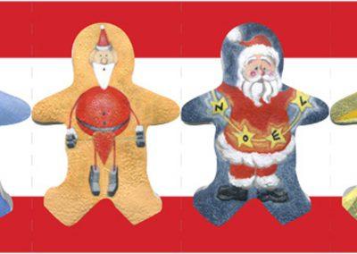 Santas line-up