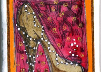 Warhol Shoes—Ladies Christmas Lights Stiletto